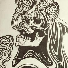 Inking #art #drawing #illustration #tattoo