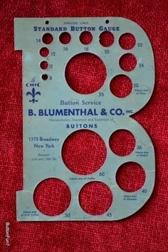 Vintage Big B Blumenthal & Co. Standard Button Gauge  Sold for $78