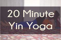 Pin it! 20 minute yin yoga video using a bolster and blanket for props. Wearing: Athleta pants (on sale!), nike shirt, hot drop apparel bra. (similar) Using: Yogitoes yoga towel for mat, hugger mugger bolster and blanket.