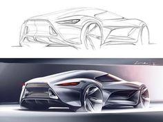 Transportation Design, Car Design Sketch, Car Sketch, Design Cars, Motor Car, Car Colors, Car Drawings, Industrial Design Sketch, Sketches Tutorial