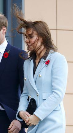 Kate Middleton outside a refinery in 2014.   - Cosmopolitan.com