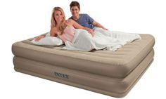 Queen Raised Comfort Air Bed and Pump