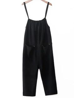 Pocket Design Loose Fit Overalls BLACK  Jumpsuits   ZAFUL Men Hats,  Headpiece, Eyewear 383d6431d41