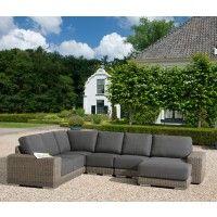 Modular rattan sofa set with waterproof cushions & a 10 year guarantee