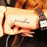 paradise tattoo (Lana del Rey)