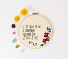 Hand Embroidery Patterns Free, Embroidery Flowers Pattern, Embroidery Hoop Art, Vintage Embroidery, Mexican Embroidery, Simple Embroidery, Wall Art Quotes, Quote Wall, Bohemian Dorm