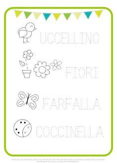 Preschool Worksheets, Preschool Activities, Italian Lessons, Subitizing, Alphabet Cards, Educational Games For Kids, Learning Italian, Dale Carnegie, Infant Activities