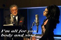 i'm all for you,body and soul #amywinehouse #soul rest in peace fantastic voice,mi viene il groppo ogni volta che ti ascolto.