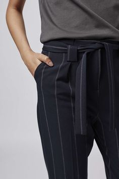 Photo 5 of Pinstripe Paperbag Trousers