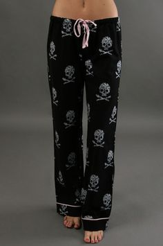 The Skull Pajama Pant by P.J. Salvage at CoutureCandy.com #skullfashion http://www.skullclothing.net
