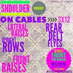 Shoulder Workout on Cables. http://instagram.com/haleya_fit_happens/