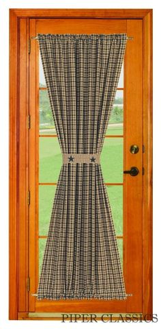Diy burlap curtains must make rustic home perfect on my patio the country porch features the vintage star black lined french door curtain panel from india home fashions solutioingenieria Gallery