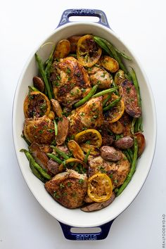 Braised Chicken with Green Beans and Potatoes by realfoodbydad #Chicken #Green_Beans #Potatoes