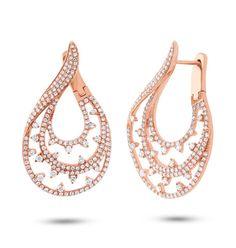 2.10ct Diamond 14K Gold Earrings