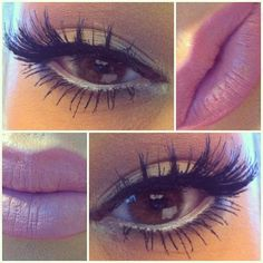 ♥ the eye makeup and lip color