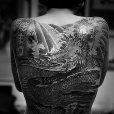 Tattoo Japanese Tatoo, Irezumi, Red Dragon, Tatoos, Statue, Dragons, Tatuajes, Fur, Art