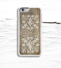 eaacd92f436 Floral Illustration   Wood Grain iPhone Case