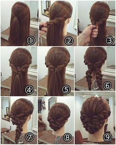 Perfect hairstyle for long hair! Schmeicheld beautiful to a traditional costume # dirn - Frisuren einfache - Wedding Hairstyles Work Hairstyles, Pretty Hairstyles, Braided Hairstyles, Wedding Hairstyles, Perfect Hairstyle, Wedding Updo, Hair Arrange, Bridesmaid Hair, Hair Hacks