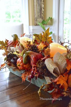 balsam hill fall harvest garland vintage tool box housepitality designs - Fall Harvest Decor