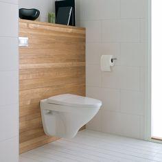 Kleinste kamertje Byggmax toilet wit hout