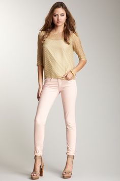Love this shade of pink in a jean, just found em!