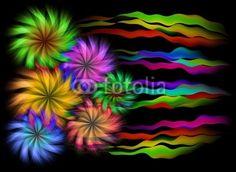 Abstract Flowers Background © bluedarkat