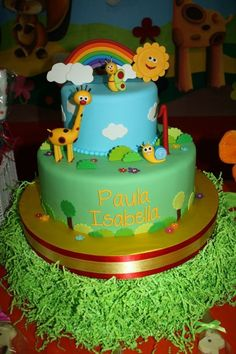 Baby TV theme birthday cake Made by Shereens cakes and bakes on