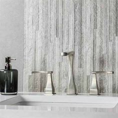Gracious Tile for the Guest Bath Grey Bathroom Tiles, Grey Tiles, Wall Tiles, Bathroom Ideas, Grey Backsplash, Entryway Wall, Urban Architecture, Guest Bath, Porcelain Tile