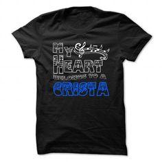 Gift ideas for him friend My Heart Belongs to Crista - Cool T-Shirt !!! - ideas for him gift. My Heart Belongs to Crista - Cool T-Shirt !!!, easy gift,gift friend. GET IT ...