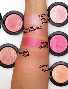 mac extra dimension blush swatches 1