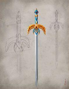 Weapon concept artwork award-winning illustrator Mark Evans created for Games Workshop's fantasy game Warhammer Online. Fantasy Sword, Fantasy Weapons, Fantasy Art, Medieval Drawing, Warhammer Online, Tactical Swords, Sword Design, Anime Weapons, Dungeons And Dragons Homebrew