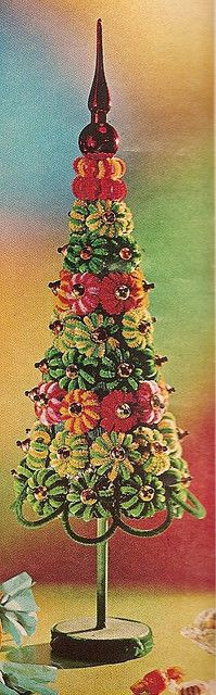1971 pipe cleaner tree