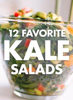 12 Favorite Kale Salads (plus, how to make the best kale salad!)