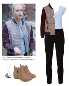 Betty Cooper - Riverdale by shadyannon on Polyvore featuring polyvore fashion style Miss Selfridge Frame Journee Collection clothing
