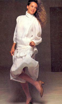 Perry Ellis - Lise Ryall American Fashion, 80s Fashion, Vintage Fashion, Perry Ellis, Shape And Form, White Shirts, Back In The Day, Fall 2015, Wedding