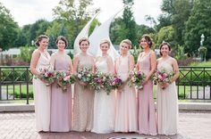 Adrienne was a bubbly fun bride! Such gorgeous girls. How much do you love this capture by photography? 💕❤️She and her beautiful wedding party got ready at . White Wedding Gowns, Wedding Dresses, Blush Beauty, Wedding Ceremony Flowers, Bride Makeup, Gorgeous Hair, Beautiful, Bridesmaid Dresses, Bridesmaids