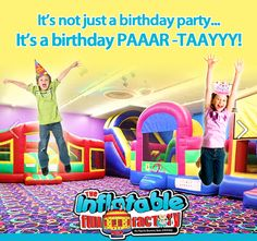 At The Inflatable Fun Factory, we KNOW parties :) Don't just settle for cake and presents...book the birthday BASH that your child will NEVER forget online @ www.theinflatablefunfactory.com!