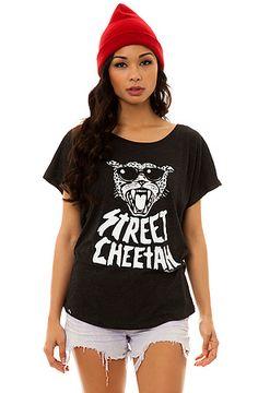 The Street Cheetah Dolman Tee in Black by LRG. wanna have the shirt!!