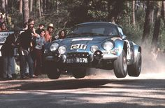 Alpine A110 at the Portuguese Rally, 1973.