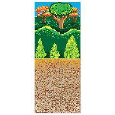 Forest 8-Bit Backdrop, 4' x 30' | 1 ct