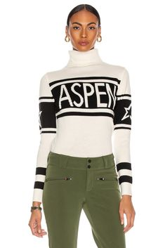 Perfect Moment Schild Aspen Sweater #forward #perfectmoment #skisweater #winterseason #skioutfit #luxuryskioutfit #womanskiwear Aspen, Fashion Outfits, Ski Outfits, Womens Fashion, Fashion Clothes, Ski Sweater, Designing Women, Fashion Brands, Graphic Sweatshirt