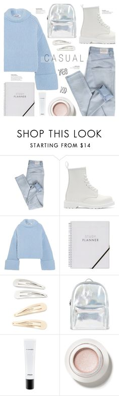 """""""Casual"""" by just-a-girl-with-thoughts ❤ liked on Polyvore featuring Cheap Monday, Dr. Martens, Jil Sander, Kitsch, Accessorize and MAC Cosmetics"""
