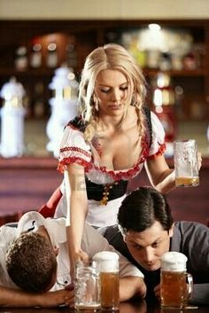 Oktoberfest and the price of overdrinking---You miss the view! Octoberfest Girls, Beer Maid, Beer Girl, Festivals Around The World, German Beer, Beer Festival, Wine And Spirits, Beer Lovers, Poses