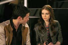 "Michelle Trachtenberg as Georgina Sparks and Penn Badgley as Dan Humphrey ""Woman on the Verge"""