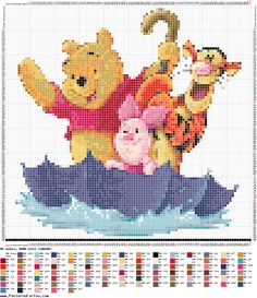 ٭ Esquemas gratuitosPonto Cruz com missangas Loom Bricks Peyote Right Angle Weave Crossstitch Beadwork Cross Stitch Fairy, Xmas Cross Stitch, Just Cross Stitch, Cross Stitch Charts, Cross Stitching, Cross Stitch Embroidery, Disney Stitch, Winnie The Pooh, Disney Cross Stitch Patterns