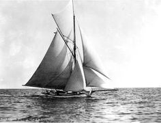Love the gaff rig on this sailing yacht......