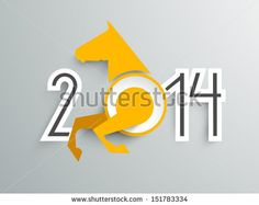 Happy New Year 2014 celebration background with Chinese symbol of the year horse.  by Allies Interactive, via ShutterStock