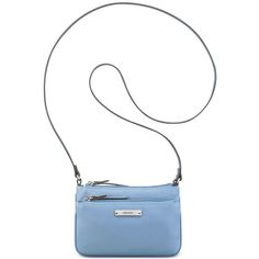 Nine West Table Treasures Crossbody ($26) ❤ liked on Polyvore featuring bags, handbags, shoulder bags, blue sky, white purse, blue crossbody, white crossbody, lightweight shoulder bag and blue shoulder bag