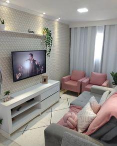 Living Room Mantle, Living Room Decor Cozy, Tiny Living Rooms, Home Living Room, Master Bedroom Interior, Home Decor Bedroom, Living Room Tv Unit Designs, Condo Interior Design, Home Office Decor