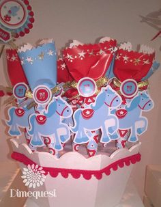 Circus birthday party favors! See more party planning ideas at CatchMyParty.com!